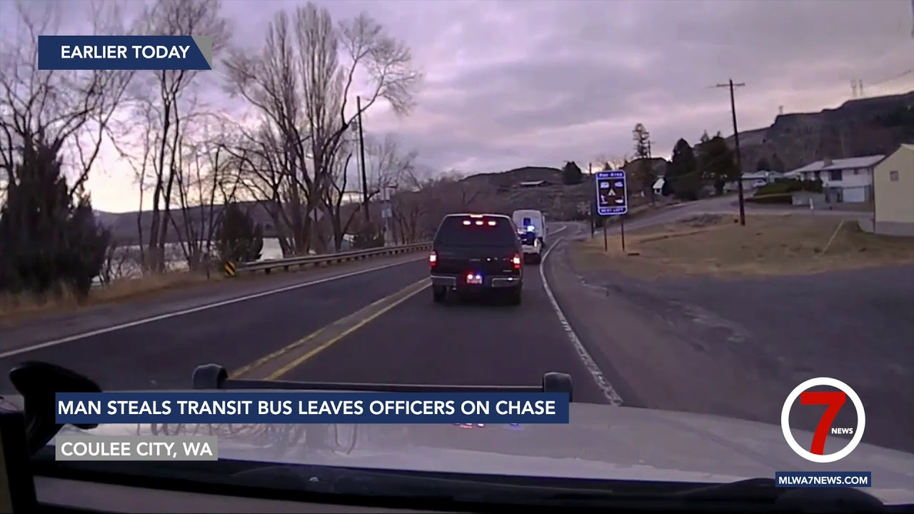 Man steals Grant Transit bus and lead multiple agencies on a high speed chase in Northern Grant Co.