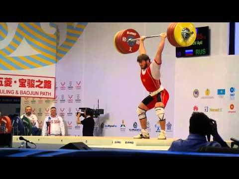 Dmitry Klokov training and WWC 85 kg in Almaty