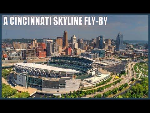 Cincinnati Skyline Fly-By & Paddle Wheel Boat