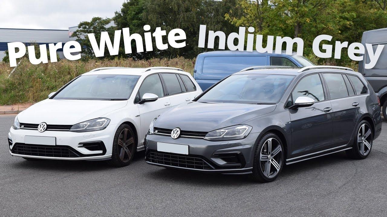 009 2018 Golf R Estate Pure White Or Indium Grey Youtube