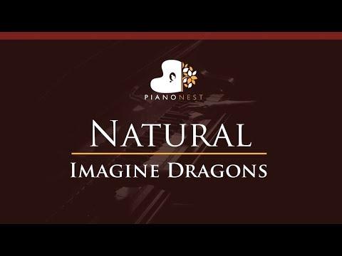 Imagine Dragons - Natural - HIGHER Key (Piano Karaoke / Sing Along)