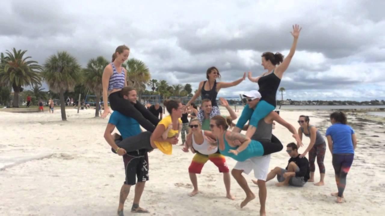 Acro Yoga Monsters North Shore Park St Pete FL YouTube