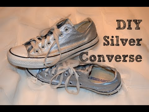 3170b0e311b9 DIY Silver Converse - YouTube