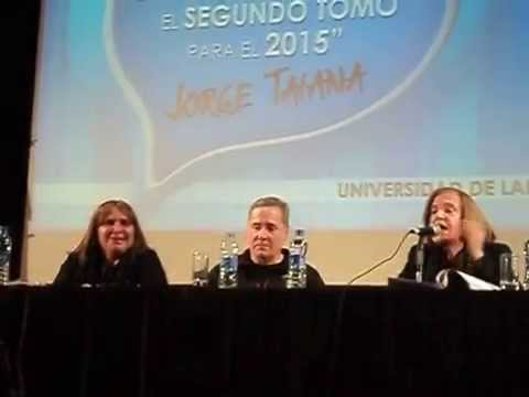 Susana Sanz habla en la 2 Asamblea Popular en la UNLA el 26 de julio de 2014
