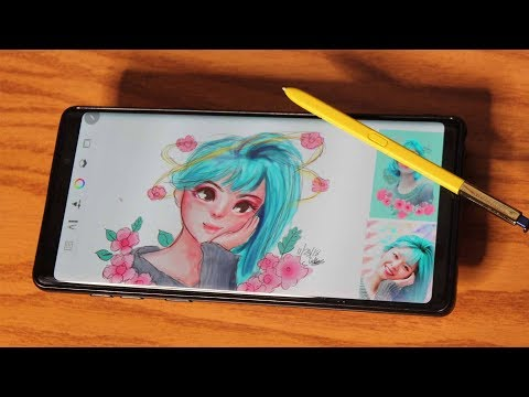 Drawing Twice Jeongyeon using the Samsung Galaxy Note 9