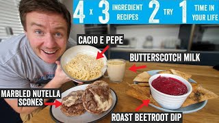 4 x 3 ingredient recipes 2 try 1 time in your life Part 15  vegetarian special