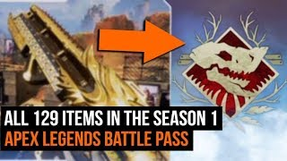 All 129 Items In The Season 1 Apex Legends Battle Pass