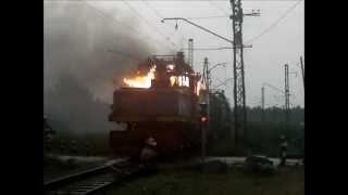 пожар электровоз 4КП
