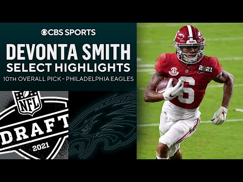 Devonta Smith: Select Highlights   10th Overall Pick   2021 Draft   CBS Sports HQ