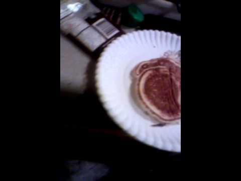 Leighton making pancakes!