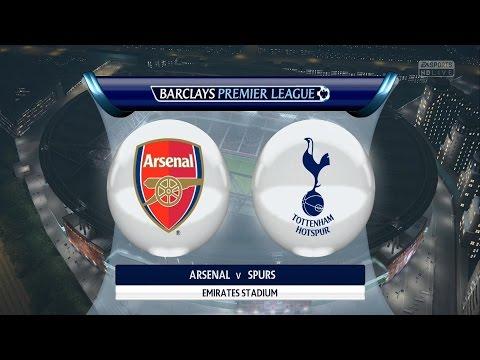 FIFA 16 Gameplay - Arsenal London VS Tottenham Hotspur - Full Game [ HD ]