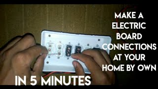 How to make electric board connections
