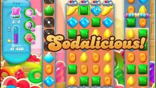 Candy Crush Soda Saga Level 744 no boosters
