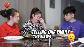 TELLING OUR FAMILY WE'RE MOVING OUT... *EMOTIONAL*