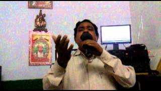 GURU CHALWADI Singing on Track Practice of Song  Hosa Baalina Hosilali Ninthiruva.