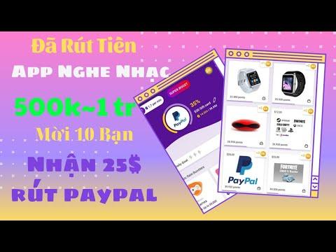 [ Đã Rút ] App Nghe Nhạc Kiếm Tiền 1 Tháng ~1tr  - Rút Tiền Về Paypal,Bitcoin -Đổi Quà Cực Uy Tín