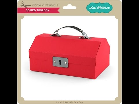 3D Fishing Tackle Box and 3D Red Toolbox