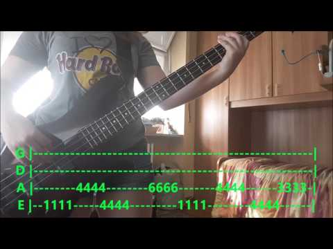 """""""HOLIDAY"""" (GREEN DAY) - EASY BASS COVER WITH TABS"""