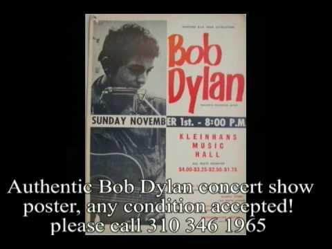 Bob Dylan Original Concert Posters  Wanted$$$$$$$