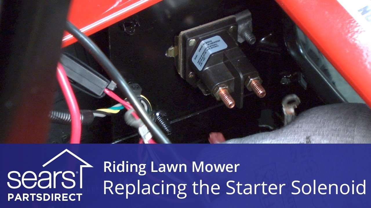 starter solenoid wiring diagram lawn mower pressure transducer replacing a on riding - youtube