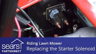 Replacing a Starter Solenoid on a Riding Lawn Mower