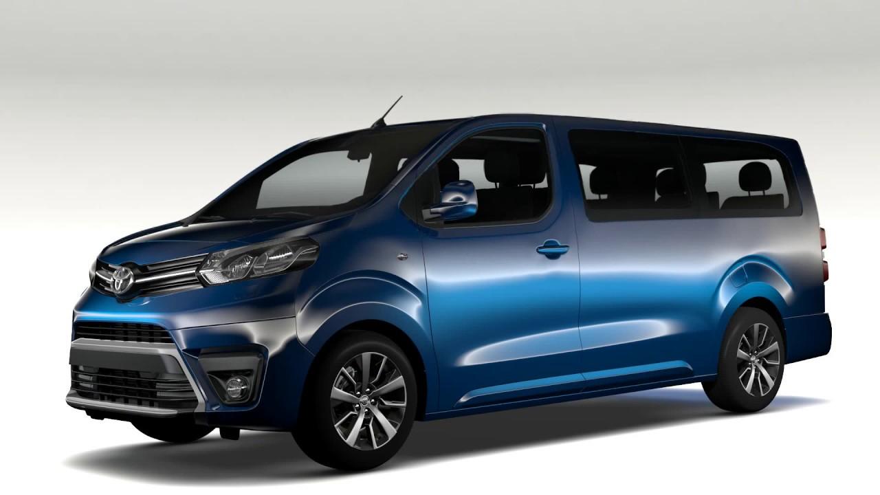 Toyota toyota proace : 3D Model of Toyota ProAce Verso L3 2017 - YouTube