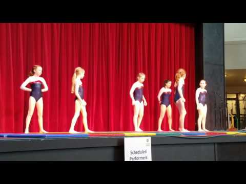 The Little Gym of Everett Jets Perfomance at the Seattle Center (April 8, 2017)