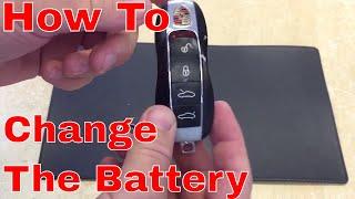Porsche Key Battery Emergency Key Removal
