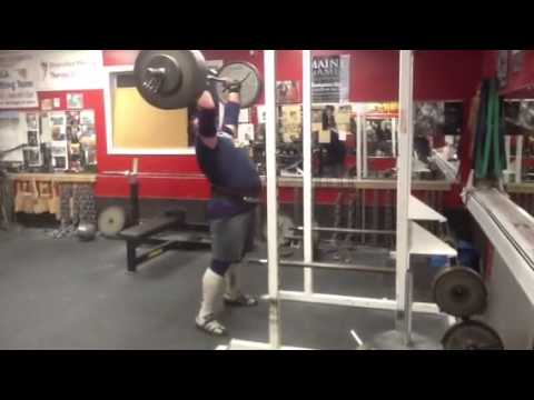 445 lbs 202.5 kg overhead press 5 reps.Dimitar Savatinov thumbnail