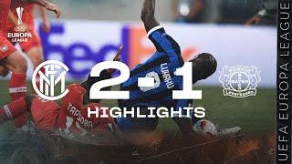 INTER 2-1 LEVERKUSEN | HIGHLIGHTS | 2019/20 UEFA Europa League Quarter Finals ?⚫?