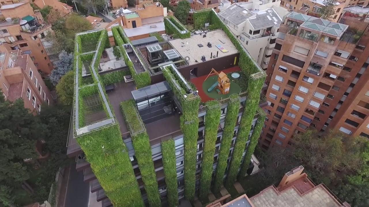 largest vertical garden World Largest Vertical Garden - Santalaia building - YouTube