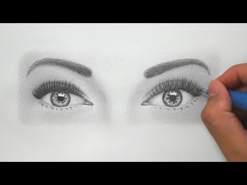 How to Draw Realistic Eyes for BEGINNERS - Super Detailed Instructions!