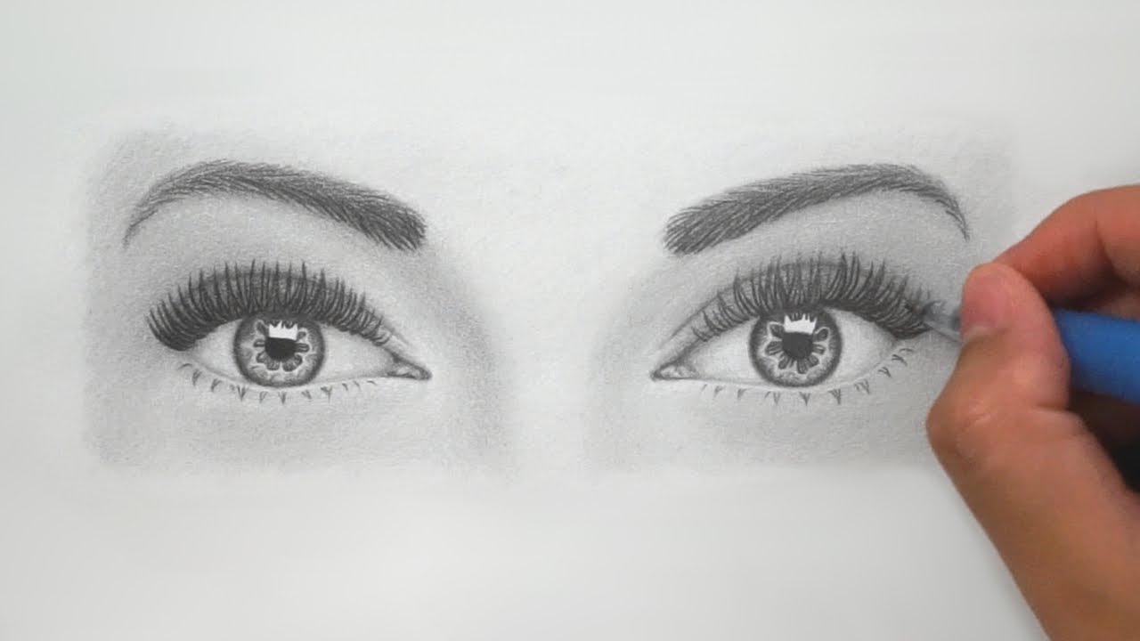 How to draw realistic eyes for beginners super detailed instructions