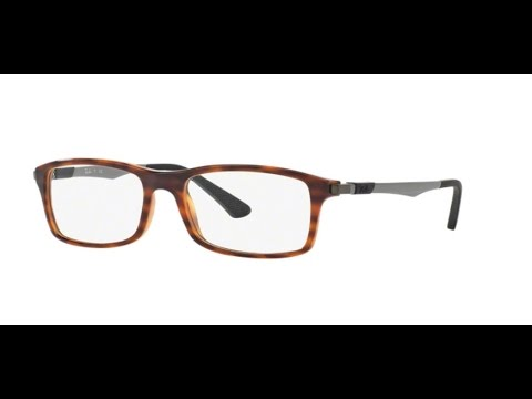 fab2eb6a38 Ray Ban RX7017 Eyeglasses 5687 RED HAVANA - YouTube