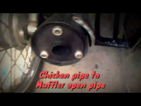 Chicken pipe to Muffler open pipe GIVE A THUMBS UP