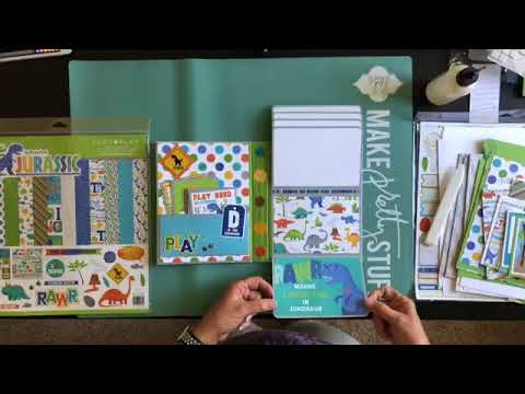 Jurassic Folio Tutorial With Ginger Ropp For PHOTOPLAY PAPER