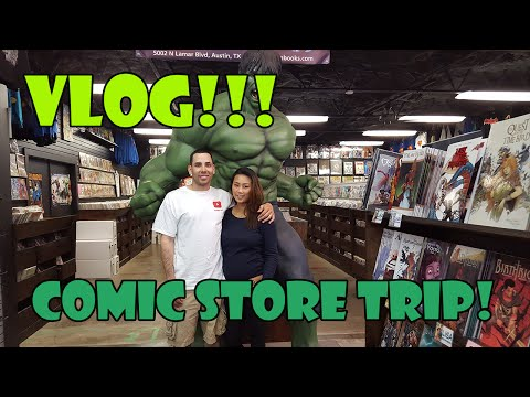 VLOG Huge Comic Book Store!