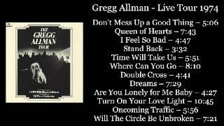 Gregg Allman - Live Tour 1974 (DoLP Vinyl-Rip) (Full Album)