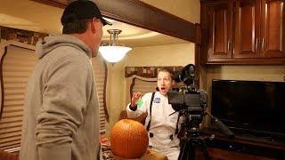 Psycho Dad Smashes Pumpkins