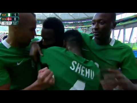 Mikel John Obi's Goal (进球啦) For Nigeria VS Denmark 2-0 Olympic Games