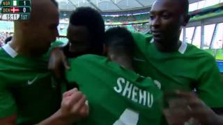 Mikel John Obi's Goal (进球啦) For Nigeria VS Denmark 2-0 Olympic Games