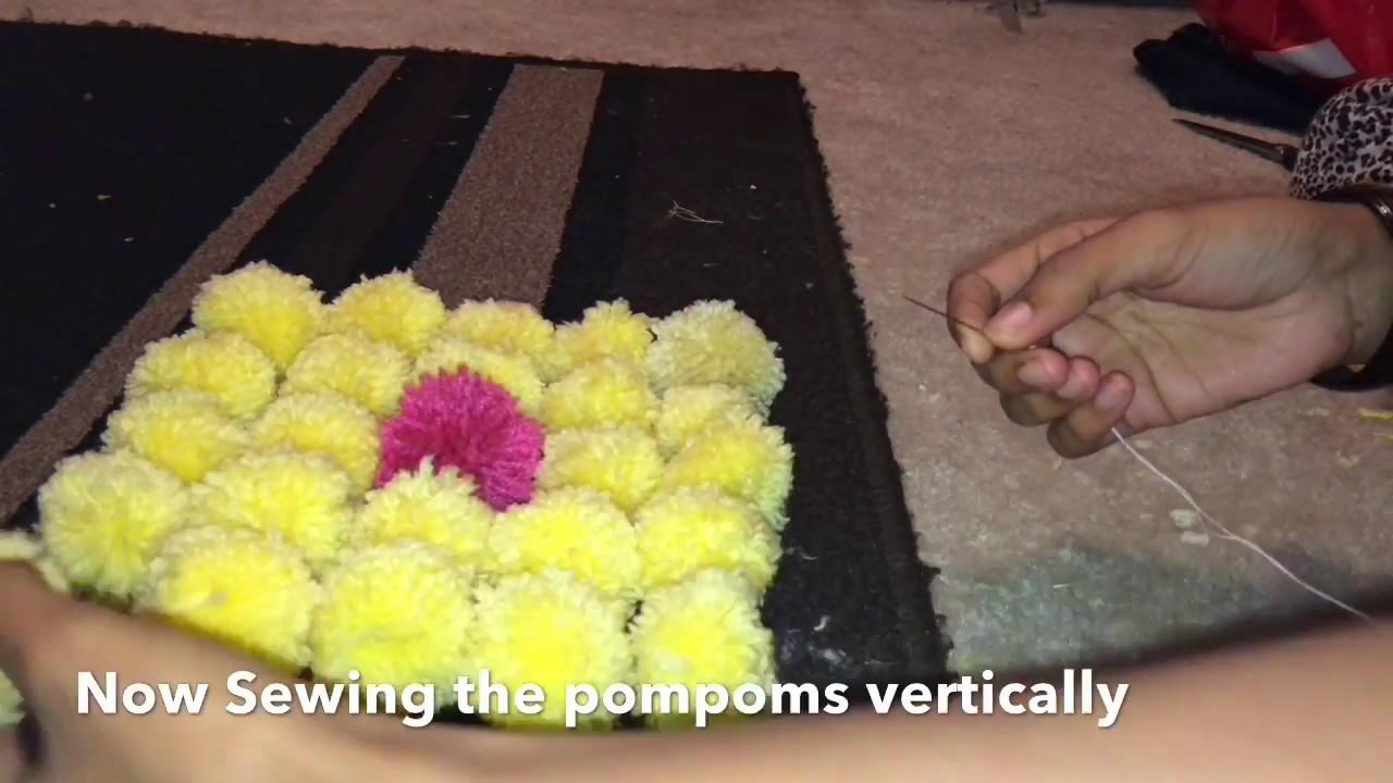 Woolen Yarn Pom Pom Wall Decor - YouTube