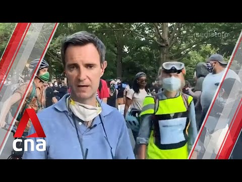 US protesters defy curfews as demonstrations over George Floyd's death enter 8th straight day from YouTube · Duration:  3 minutes 19 seconds
