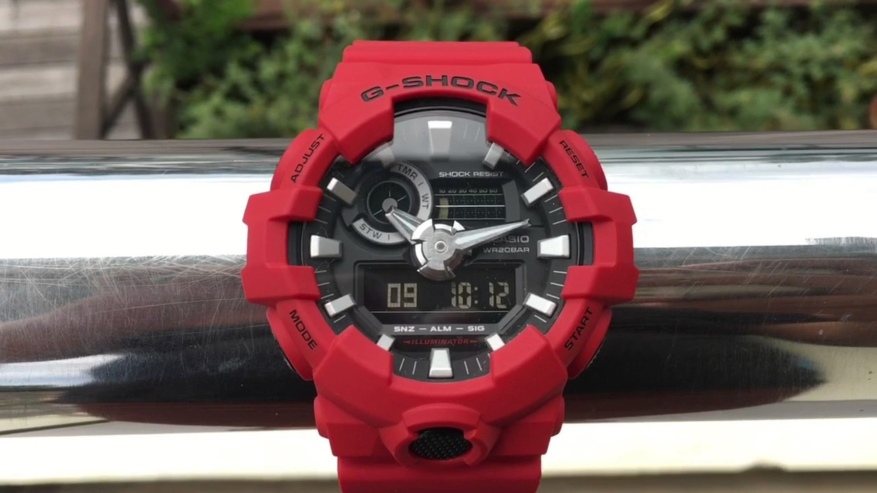 new arrival f9a75 917ce G-shock casio GA-700-4A (5522) red