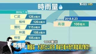 韓國瑜:水退的比以前快 降破百毫米雨炸高雄清淤奏效? 少康戰情室 20190720