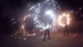 Огненное шоу в Козельце. Фаер шоу на свадьбу от команды Reiton. Чернигов