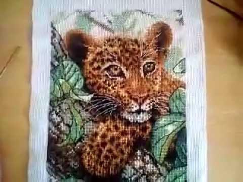Детеныш леопарда вышивка