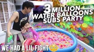 3 MILLION WATER BALLOONS SUBSCRIBERS (LIL FIGHT) | Ranz and Niana