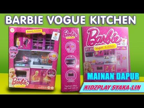 Mainan dapur barbie barbie vogue kitchen toy beauty barbie for Kitchen set mainan