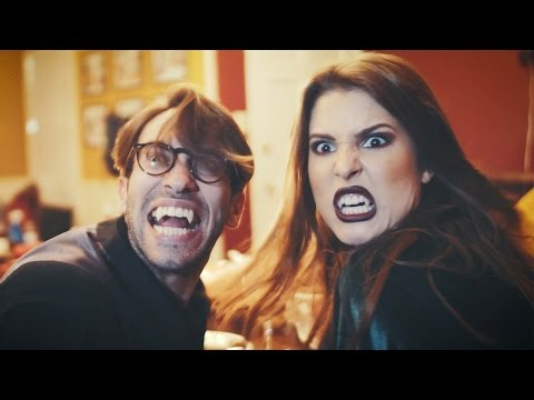 DINNER WITH THE DRACS ft Amanda Cerny, King Bach & Brittany Furlan  Funny Halloween Sketch